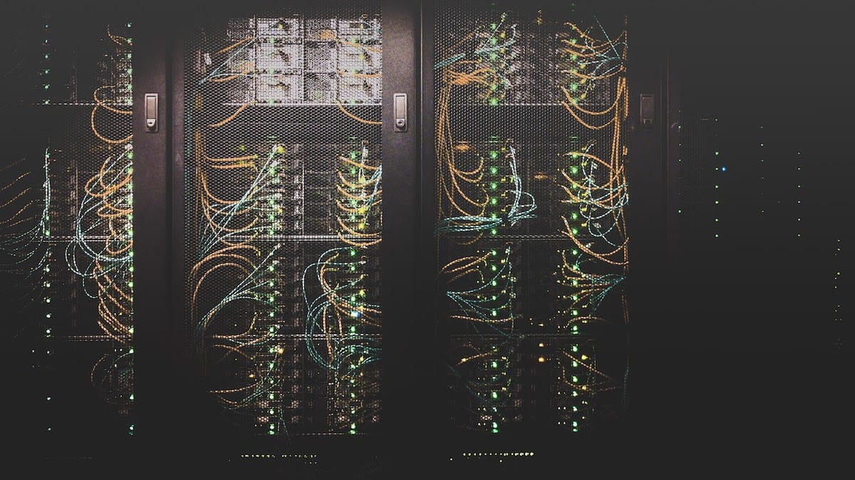 A bank of servers.