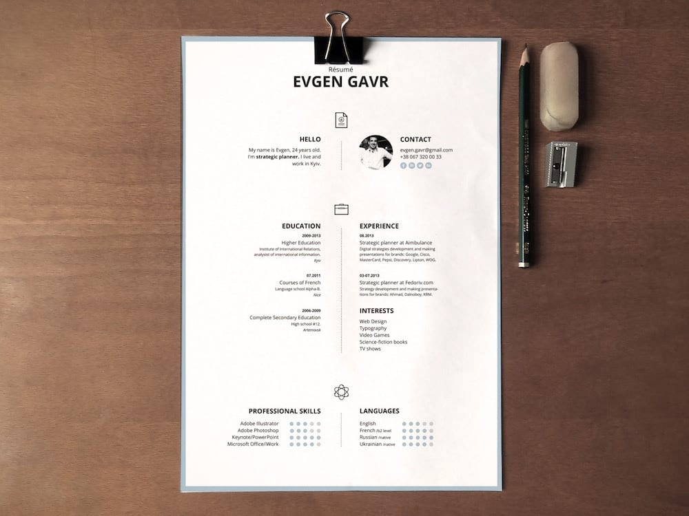 Free resume template from Zohn Habib.