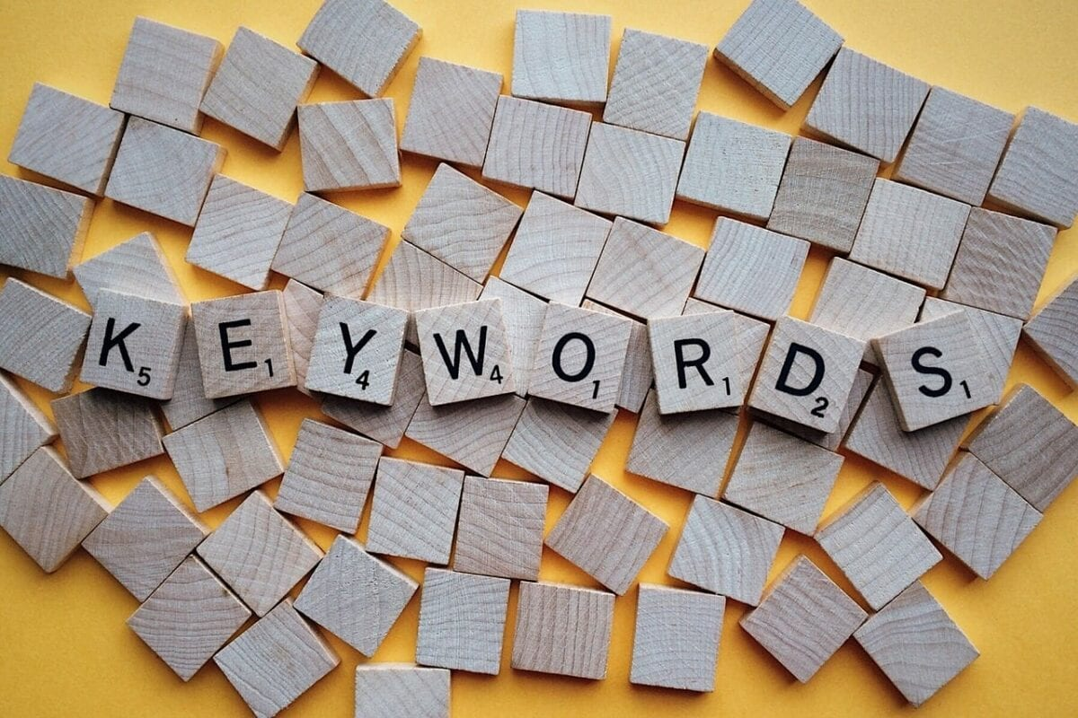 "blocks spelling out ""keywords"""
