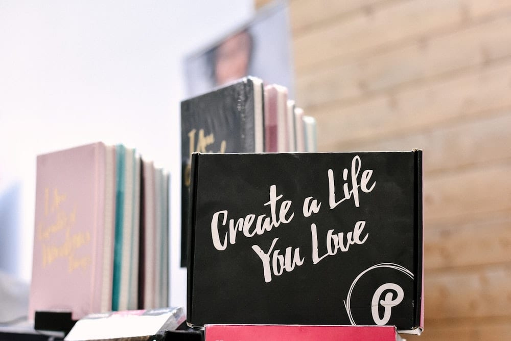 "Sign written in chalk, ""Create a life you love""."