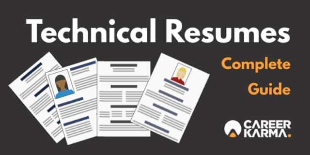 technical resumes: complete guide