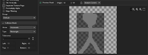 Bounding Box/Collision Mask on Sprite