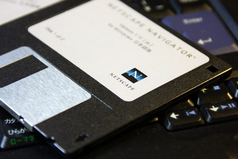 Floppy Disk Of Netscape Navigator