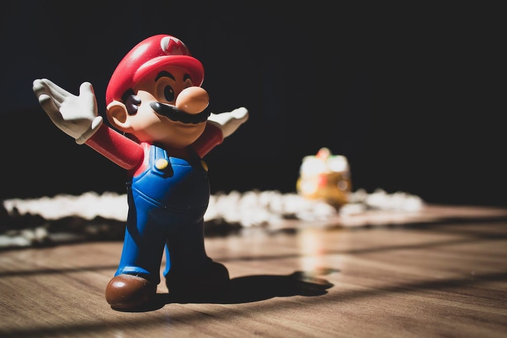 A figurine of Super Mario himself.