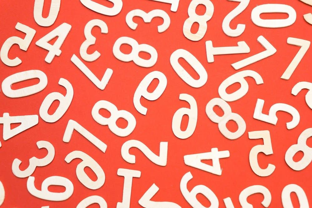 A jumble of letters and numbers.