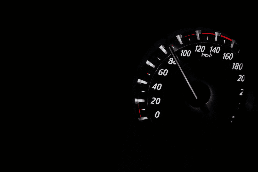 A automotive speedometer