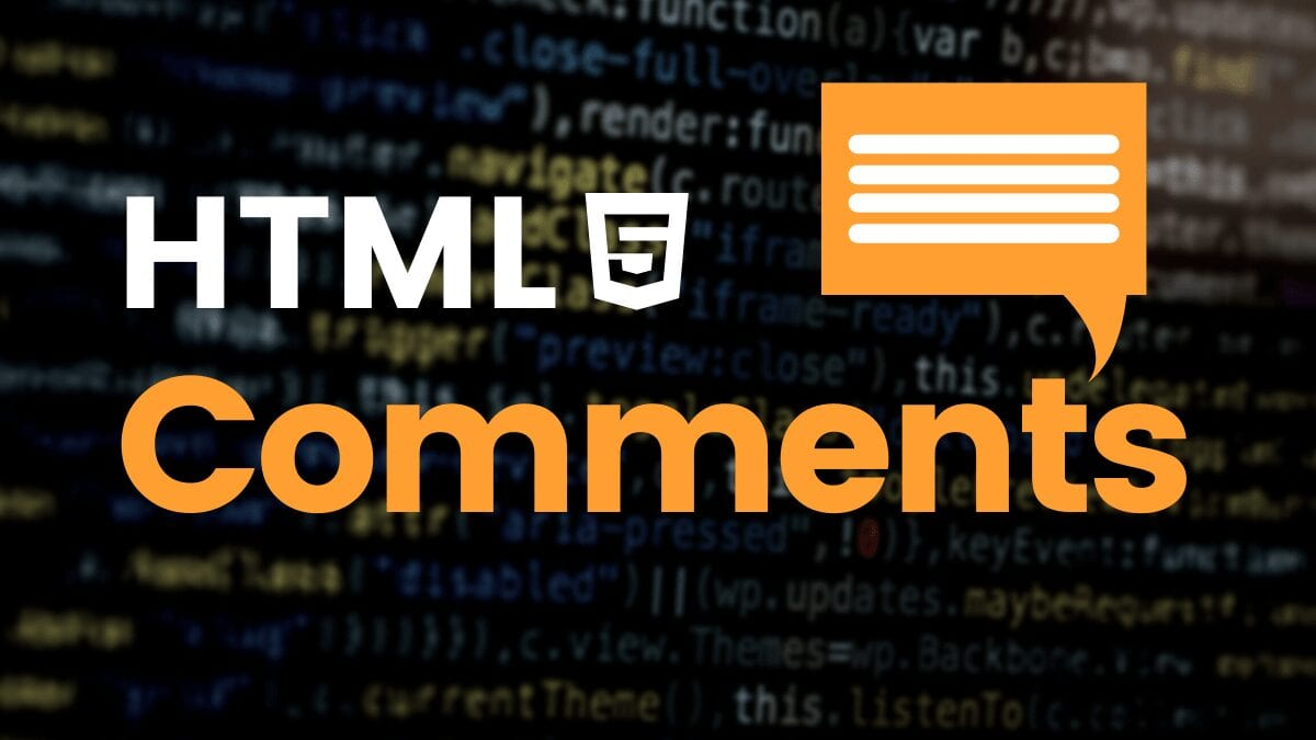 HTML comments