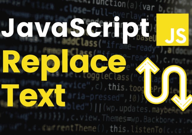 JavaScript Replace Text