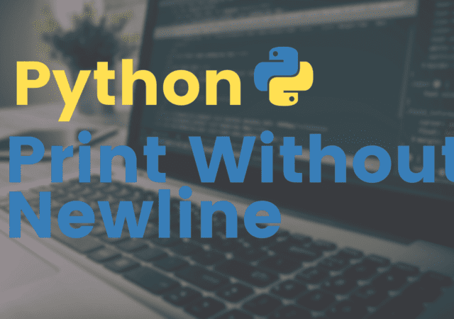 Python Print Without Newline
