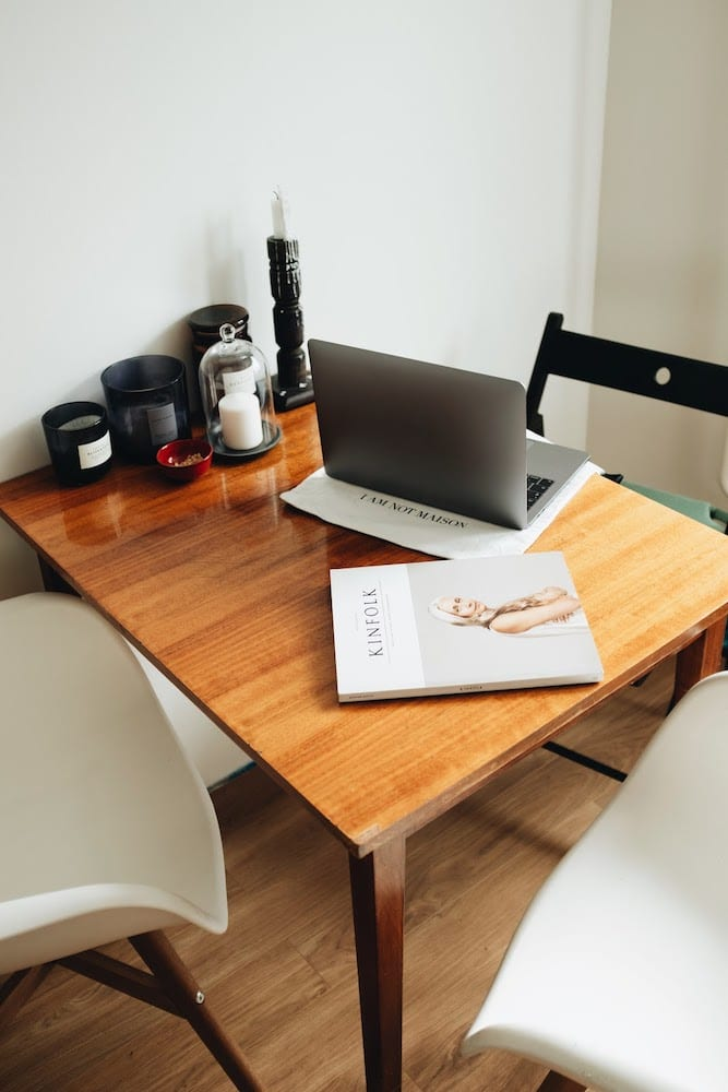Silver Macbook On Brown Wooden Table 3847580