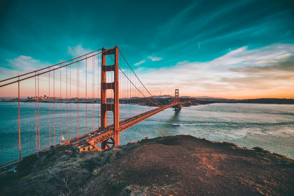 A photo of the Golden Gate Bridge during the day.