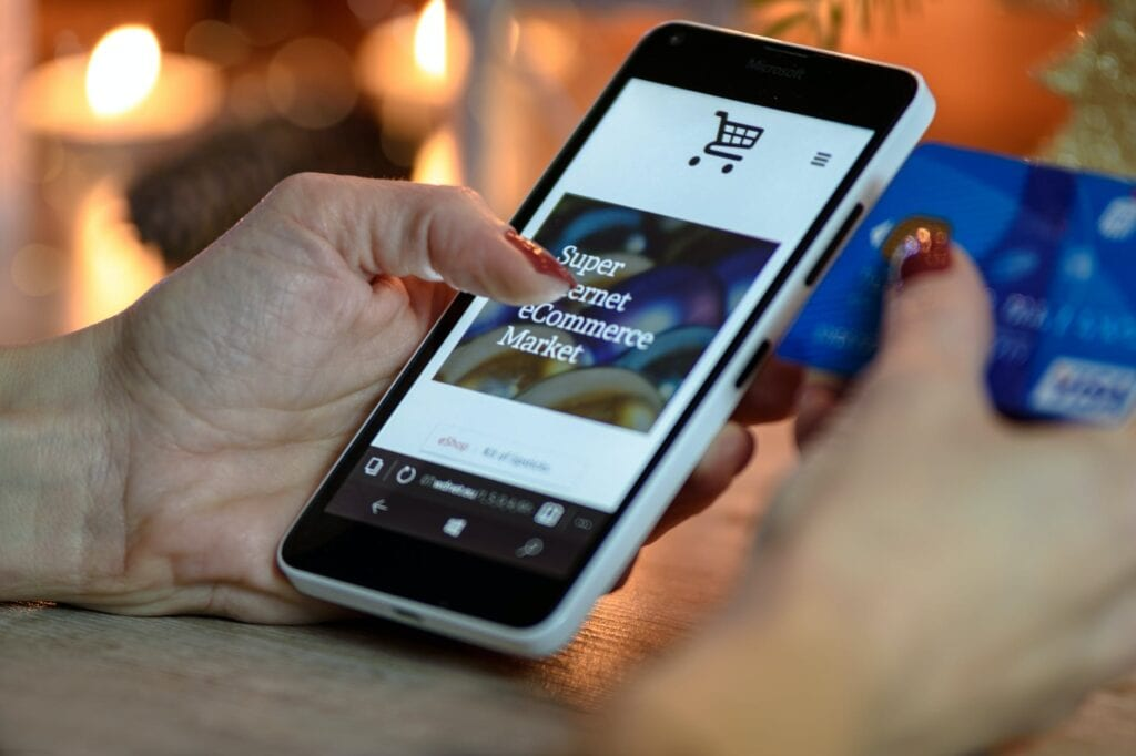online shopping using mobile