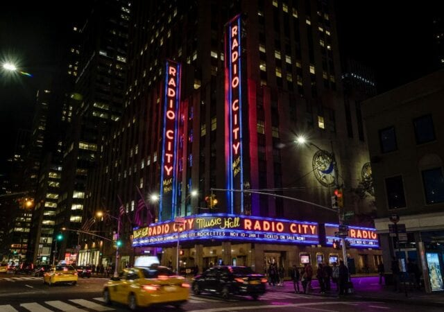 Neon Lights at Radio City Music Hall
