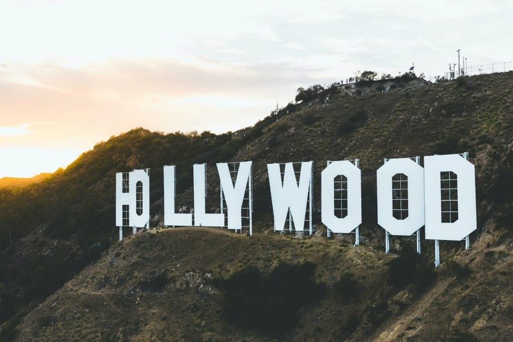 the Hollywood sign in Los Angeles