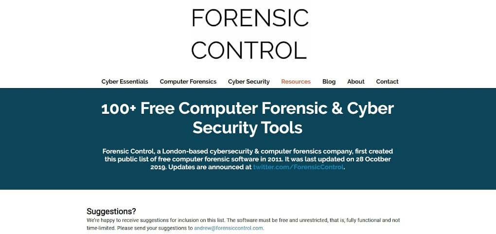 Computer Forensics Forensic Control