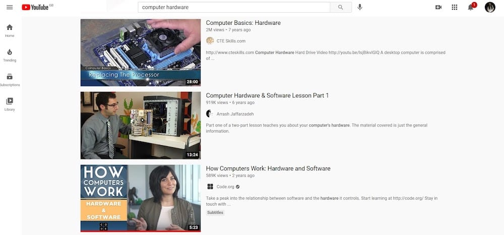Computer Hardware Youtube