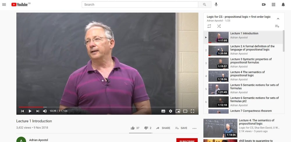 Youtube Lecture