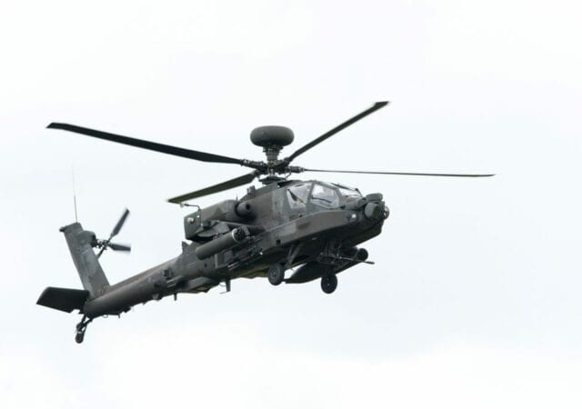 grayscale apache helicopter