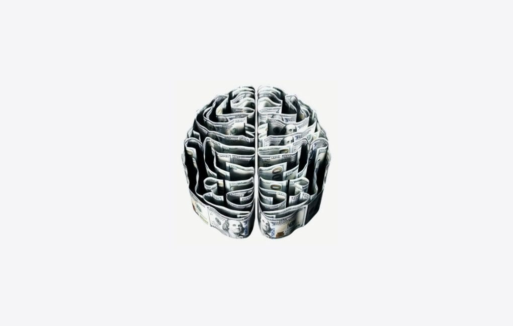 a black and white sculpture of the brain