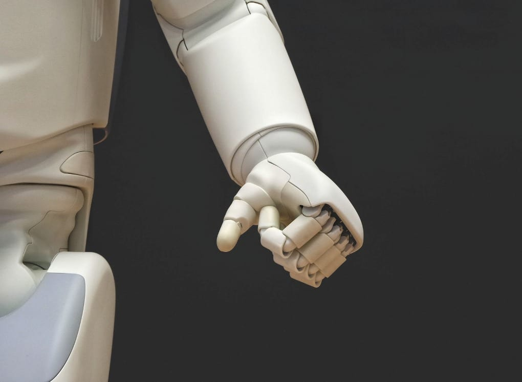 a white robotic arm