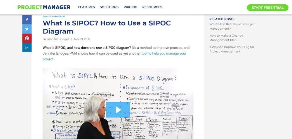 SIPOC Project Manager