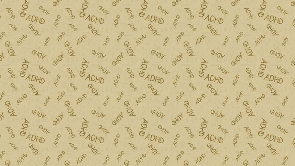 Patterned background with ADHD text