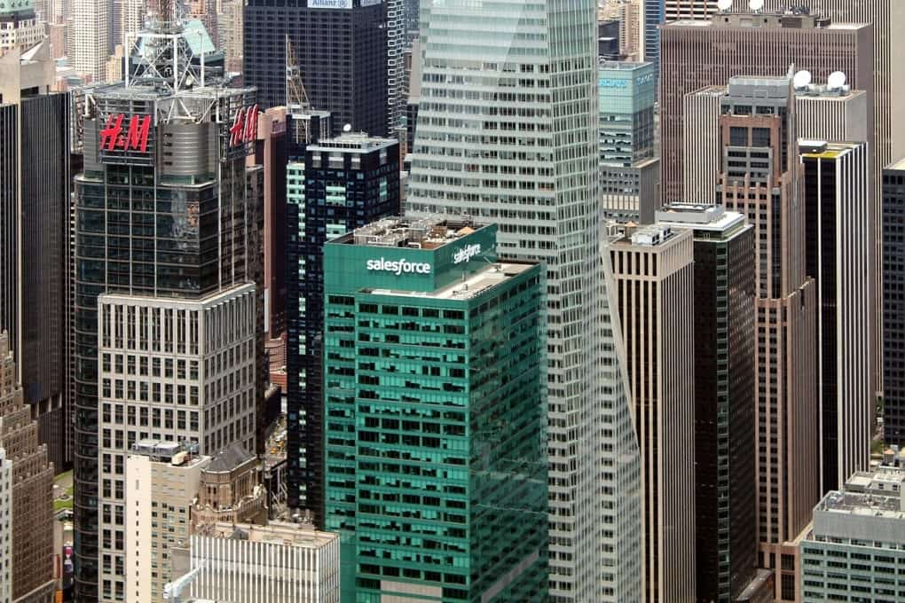 The Salesforce offices in New York.
