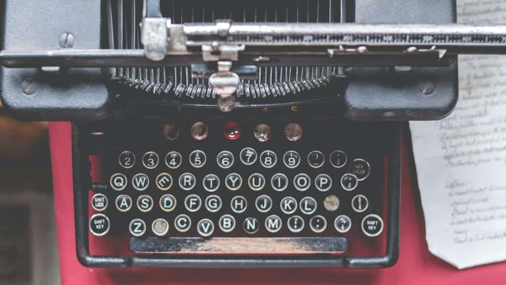 lack Typewriter, well-used, with some keycaps missing
