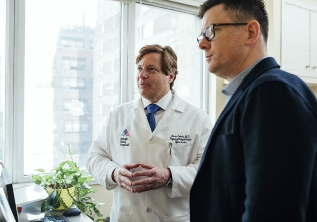 a doctor having a conversation with a patient