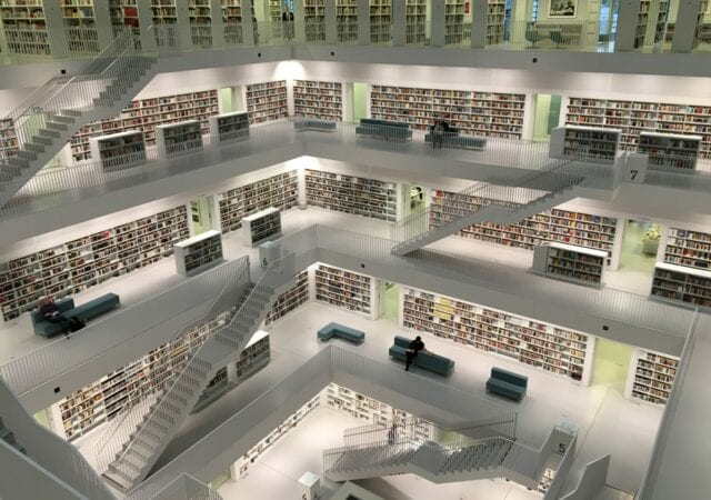 multi-storeyed library