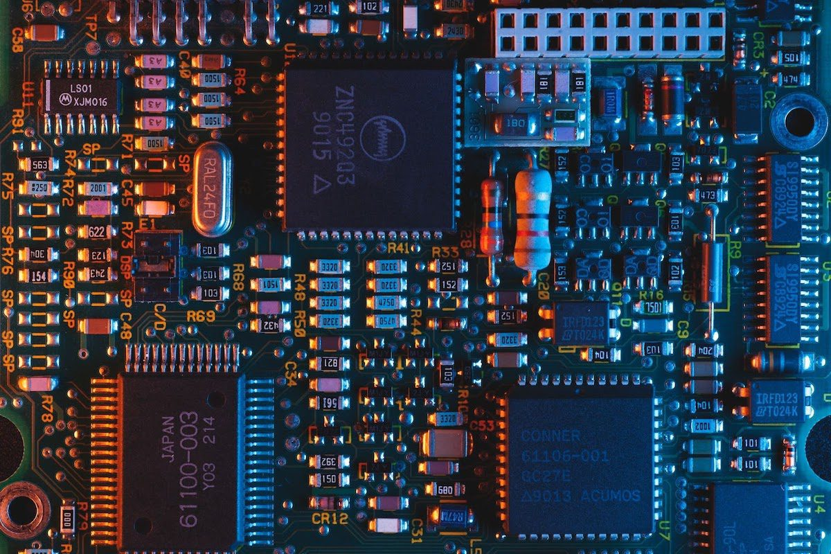 Circuit board under blue light Network Engineering Bachelor's Degrees